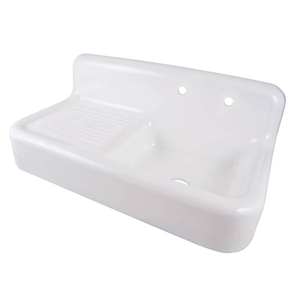 Maidstone Cora Cast Iron Farmhouse Drainboard Sink