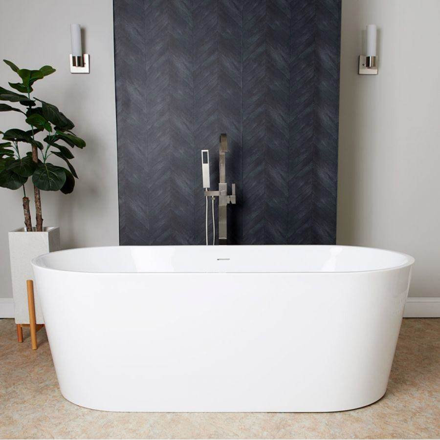 Maidstone Elizabethan Acrylic Contemporary Double Ended Tub - No Faucet Drilling