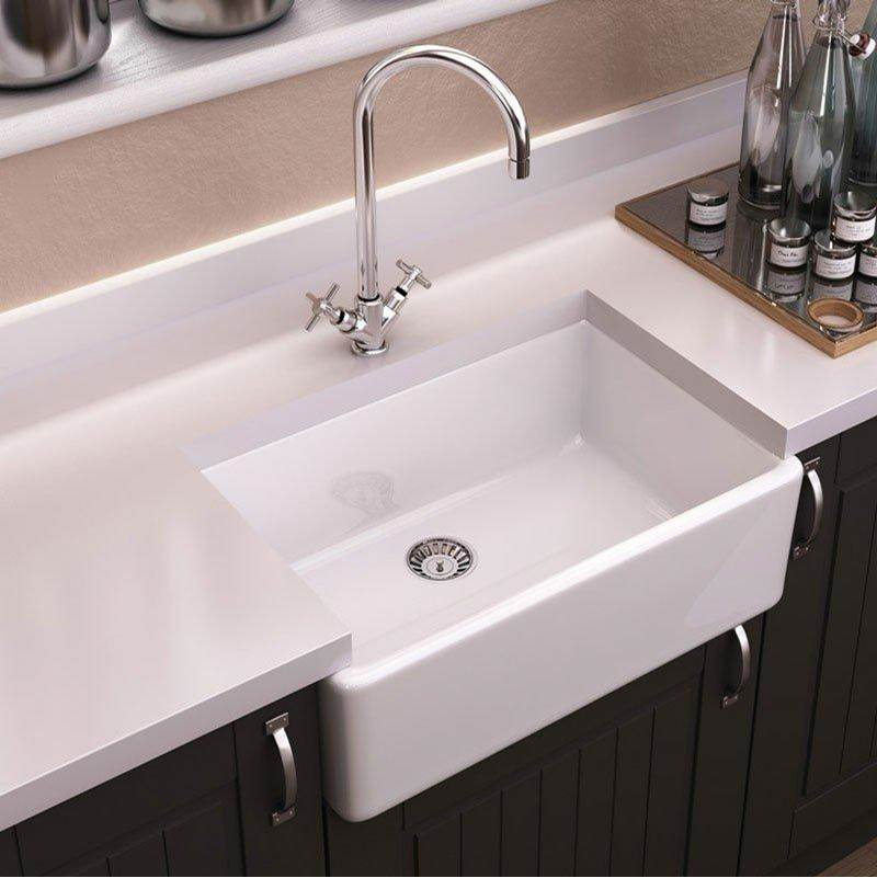 Maidstone Maidstone 24 x 18 Fireclay Apron Farmhouse Sink