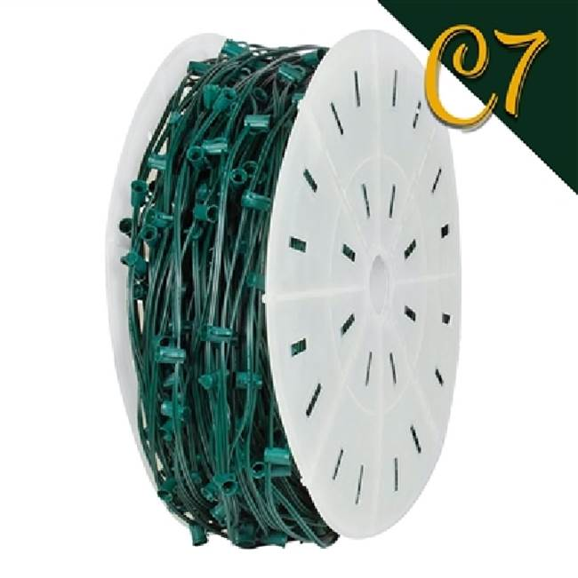 Miami Home Centers Holiday Bright Lights AC-C71000GC-12 SPT-1 Lighting Cord, Green, For C7 Christmas Lights