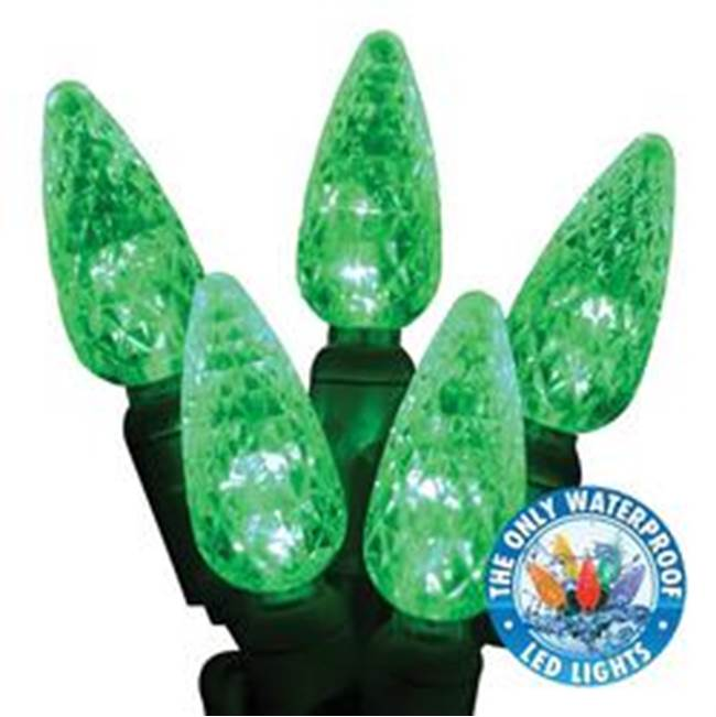 Miami Home Centers Holiday Bright Lights LEDBX-C650-GR Commercial-Grade Light Set, Green Cord, 50-Lamp