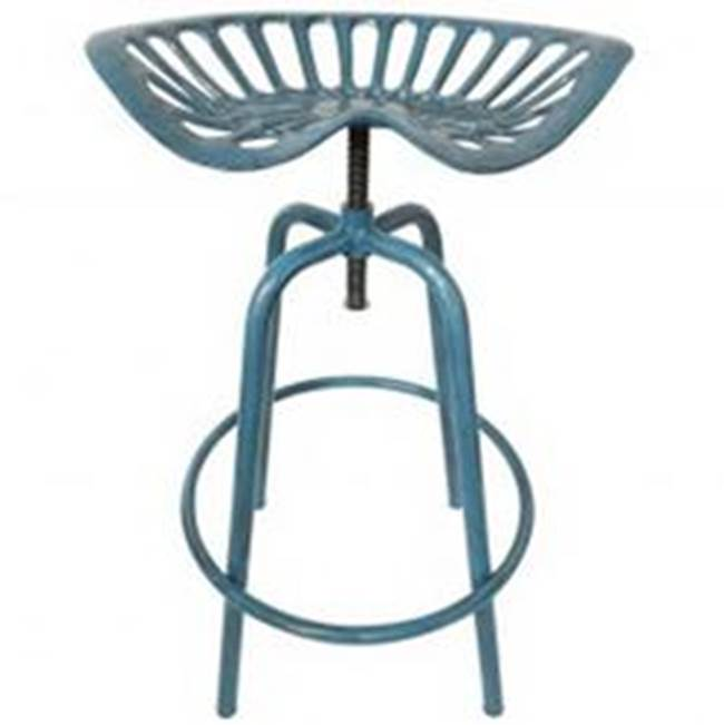 Esschert Design Esschert Design Industrial Heritage IH034 Twistable Tractor Chair, Iron/Steel Frame, Blue Frame