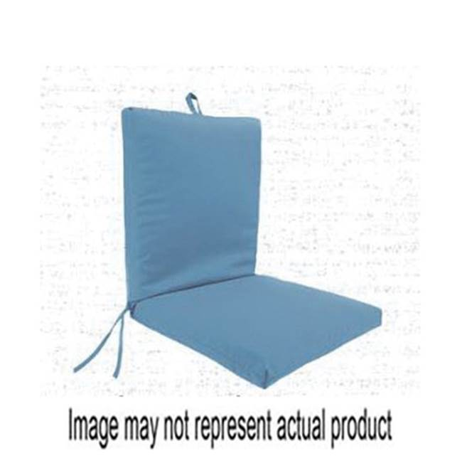 Miami Home Centers JORDAN MANUFACTURING Jor 9701-294H Chair Cushion with Ties, 21 in L, 44 in W, 3 in H, Tuscan