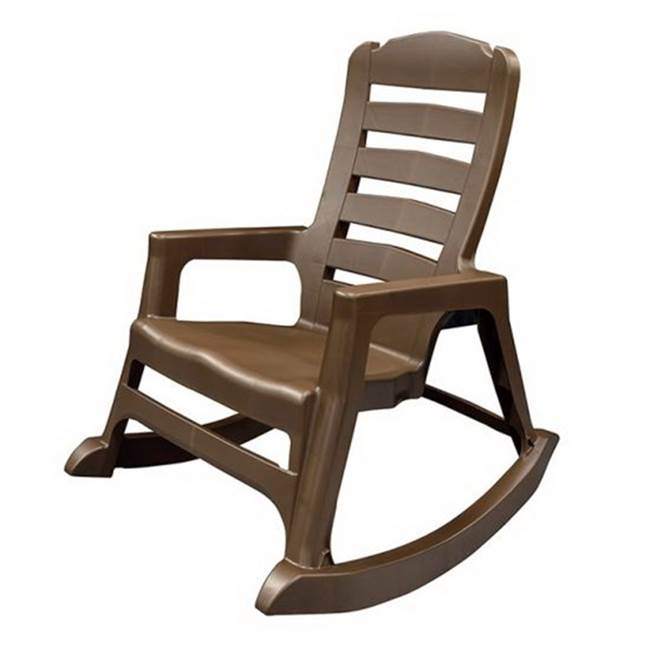 Adams Adams BIG EASY 8080-60-3700 Rocking Chair, 350 lb Weight Capacity, Polypropylene, Earth Brown
