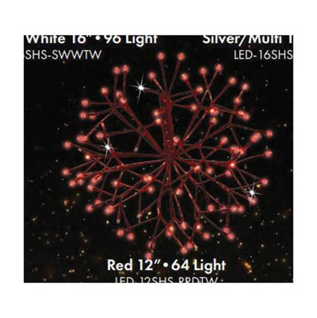 Miami Home Centers Holiday Bright Lights LED-12SHS-RRDTW Small 3D Shimmer Sphere Christmas Decor, LED Bulb, Pure White/Red Light