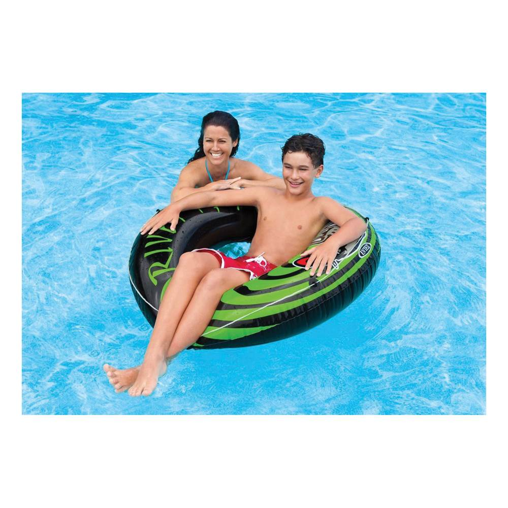 INTEX INTEX 68209EP River Rat Tube, Vinyl, Black/Green