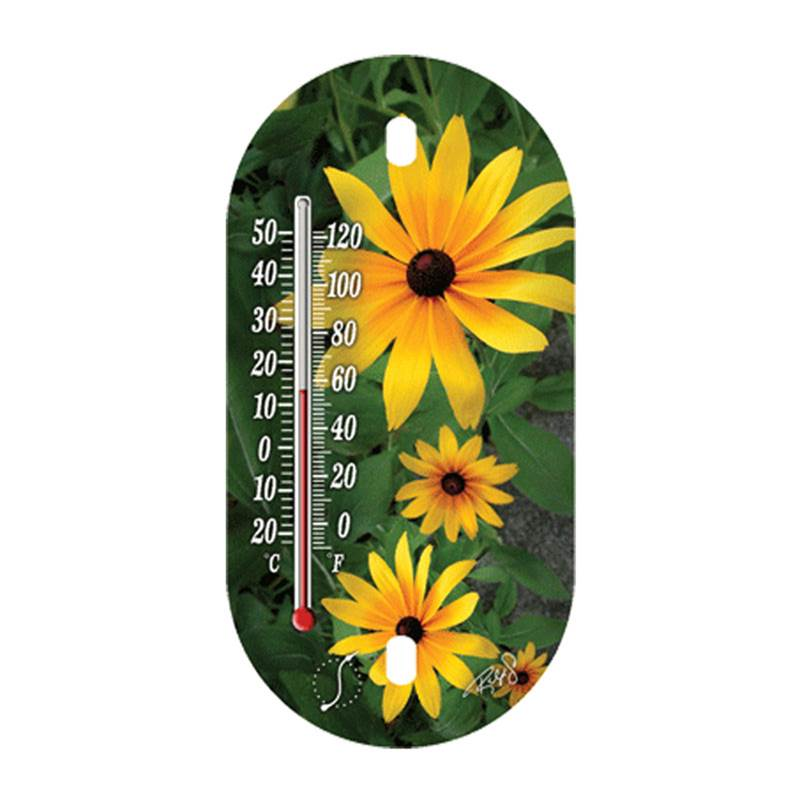 Miami Home Centers Springfield 91565 Sunflower Decorative Tube Thermometer, -40 to 120 deg F