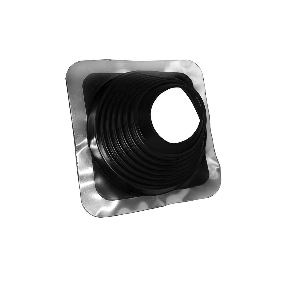 Oatey Oatey Master Flash 14055 Roof Flashing, 5 to 9 in Pipe, 12 x 12 in Base, Rubber, Black