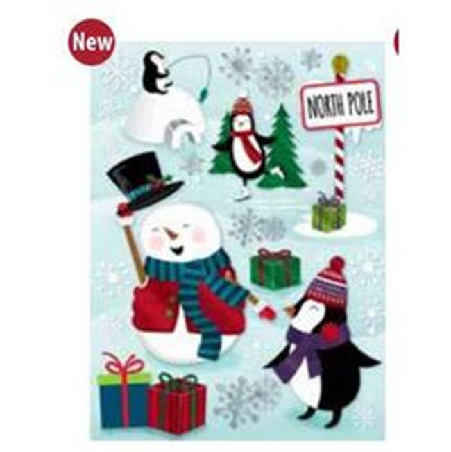 Miami Home Centers IMPACT INNOVATIONS 12505 Christmas Foil Cling, Paper/Plastic