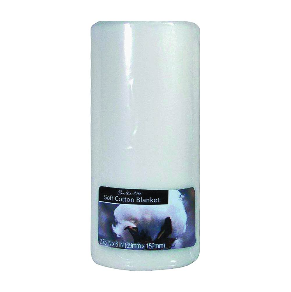 CANDLE-LITE CANDLE-LITE 2846250 Kovera Pillar Scented Candle, White