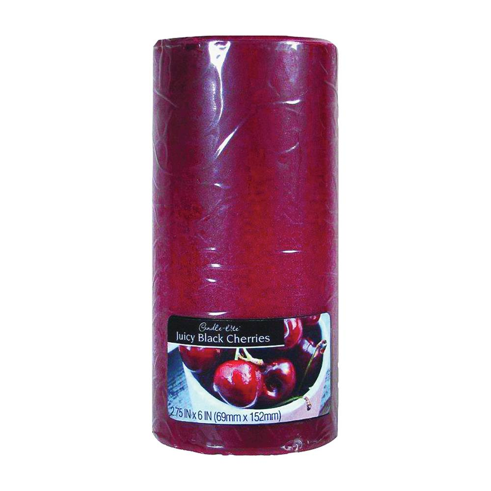 CANDLE-LITE CANDLE-LITE 2846565 Kovera Pillar Scented Candle, Burgundy