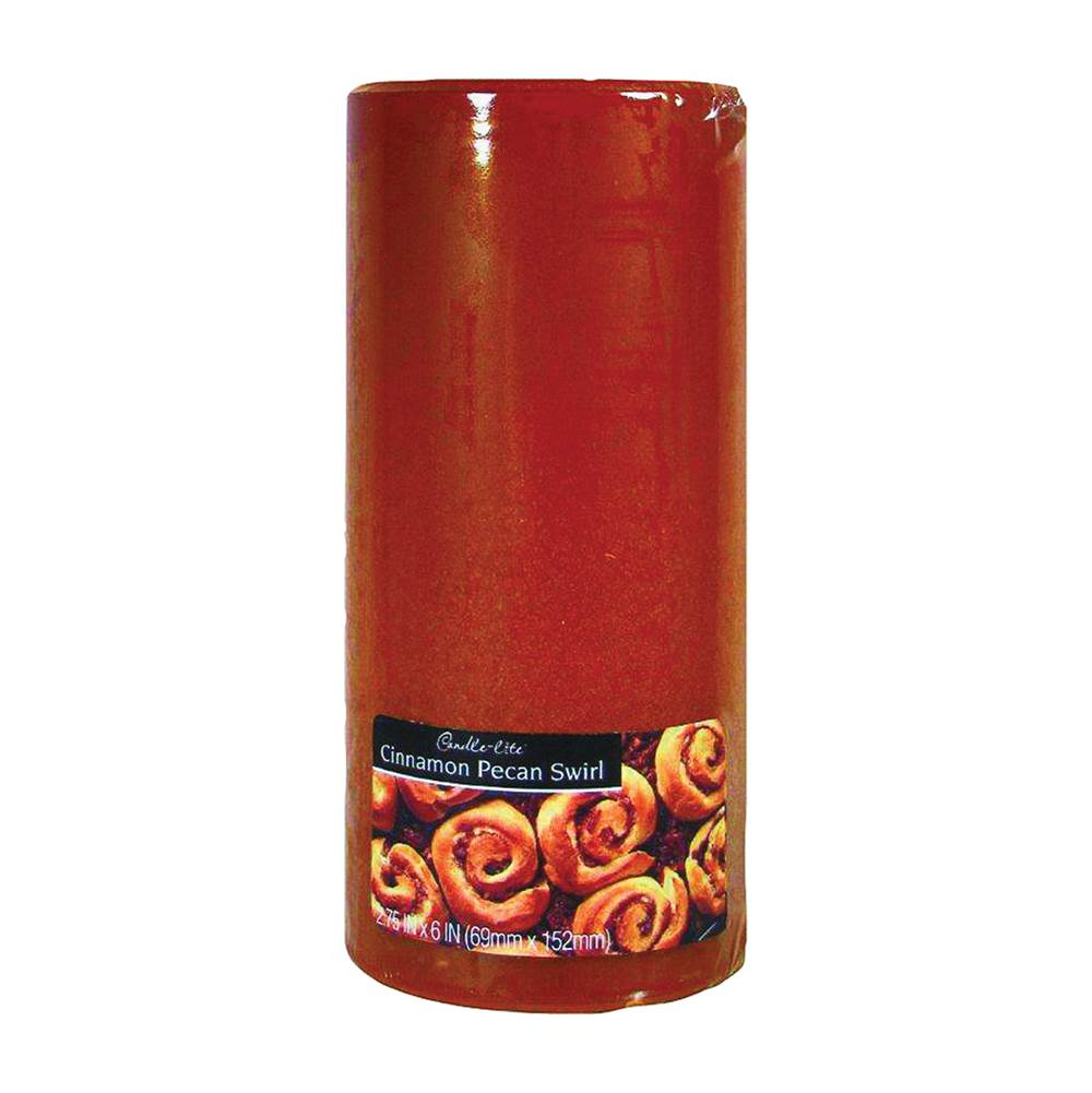 CANDLE-LITE CANDLE-LITE 2846549 Kovera Pillar Scented Candle, Caramel Brown