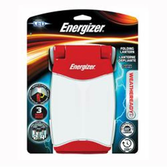Energizer Energizer Weatheready FL452WRBP Folding Lantern, LED Lamp, D Battery, Red