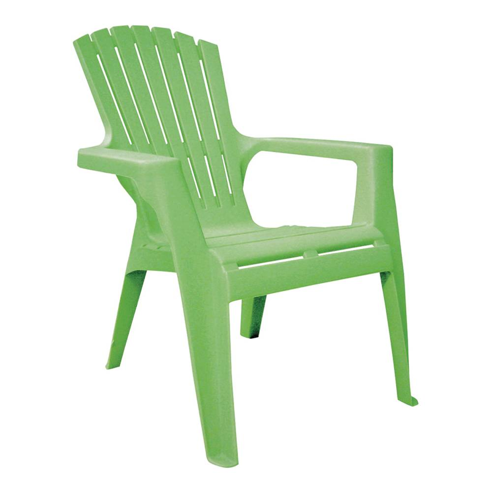 Adams Adams 8460-08-3731 Kids Adirondack Chair, 50 lb Weight Capacity, Polypropylene Frame, Summer Green Frame