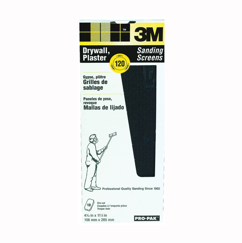 3M 3M 99438 Sanding Screen, 120-Grit, Cloth Backing
