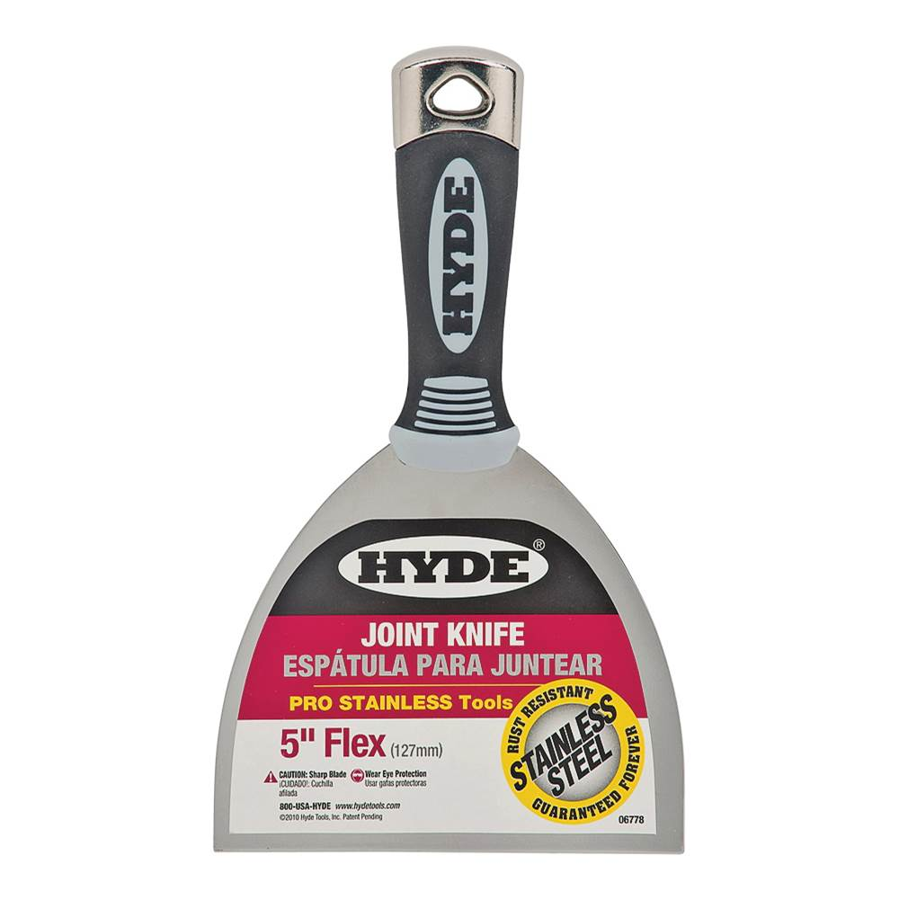 HYDE HYDE 06778 Joint Knife, Soft-Grip Handle, Single-Edge Stainless Steel Blade