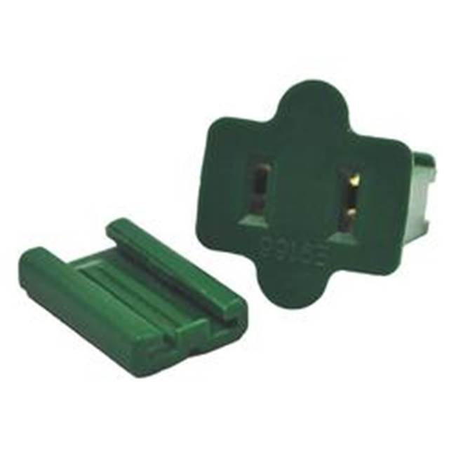 Miami Home Centers Holiday Bright Lights ZPLG-F Female Slide Plug, Green, For C7 and C9 18 AWG SPT-1 Cord