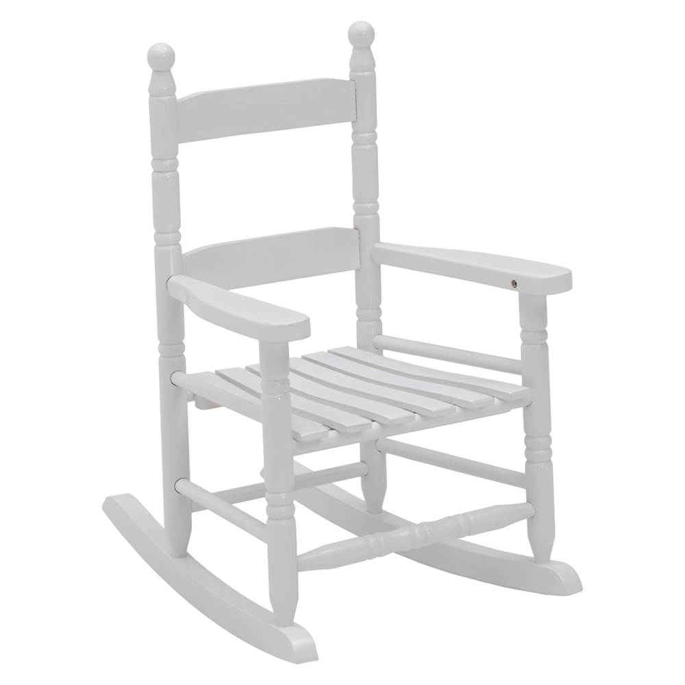 Jack Post Jack-Post KN-10-W Child Rocking Chair, 80 lb Weight Capacity, Wood, White