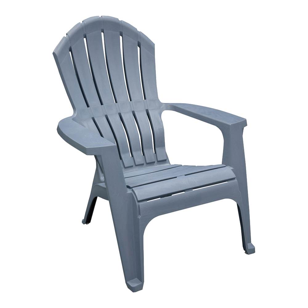 Adams Adams RealComfort 8371-94-3901 Adirondack Chair, 250 lb Weight Capacity, Polypropylene Frame, Bluestone Frame