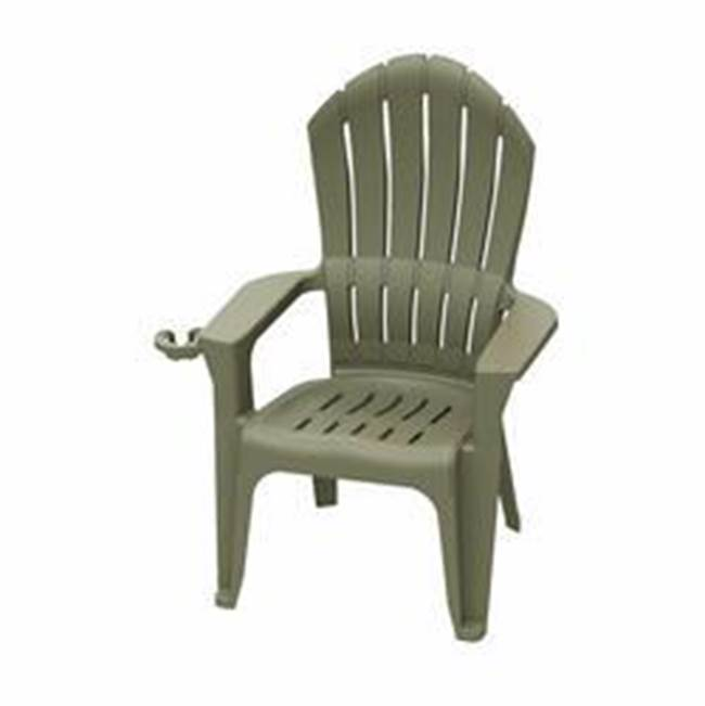 Adams Adams Big Easy 8390-96-3700 Adirondack Chair, 350 lb Weight Capacity, Polypropylene Frame, Portobello Frame