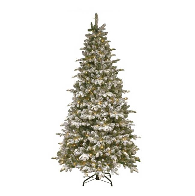 Miami Home Centers National Tree PEV3-311-75 Hinged Artificial Christmas Tree, Plug-In, Snowy Everest Fir Medium, Incandescent Bulb