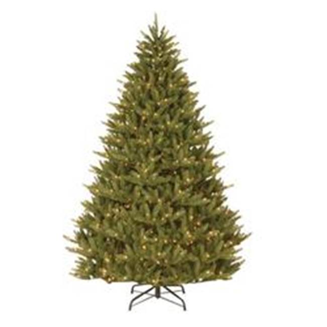 Miami Home Centers National Tree PENAF4-300-75 Hinged Artificial Christmas Tree, Natural Fraser Fir Medium, Incandescent Bulb, Clear Light