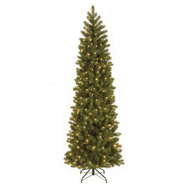 Miami Home Centers National Tree PEDD4-392D-75 Hinged Artificial Christmas Tree, Plug-In, Downswept Douglas Fir, LED Bulb