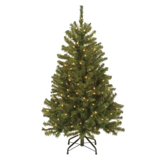 Miami Home Centers National Tree NRV7-300-45 Hinged Artificial Christmas Tree, Plug-In, North Valley Spruce, Incandescent Bulb