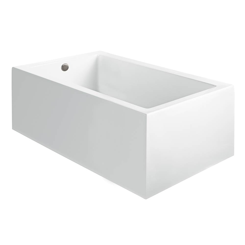 MTI Baths 60x42 SCULPTED 1 SIDE WHITE SOAKER Andrea 12A