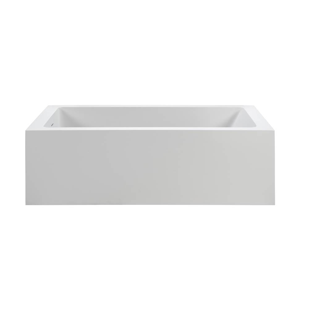 MTI Baths 60X31 GLOSS WHITE SOLID SURFACE SOAKER