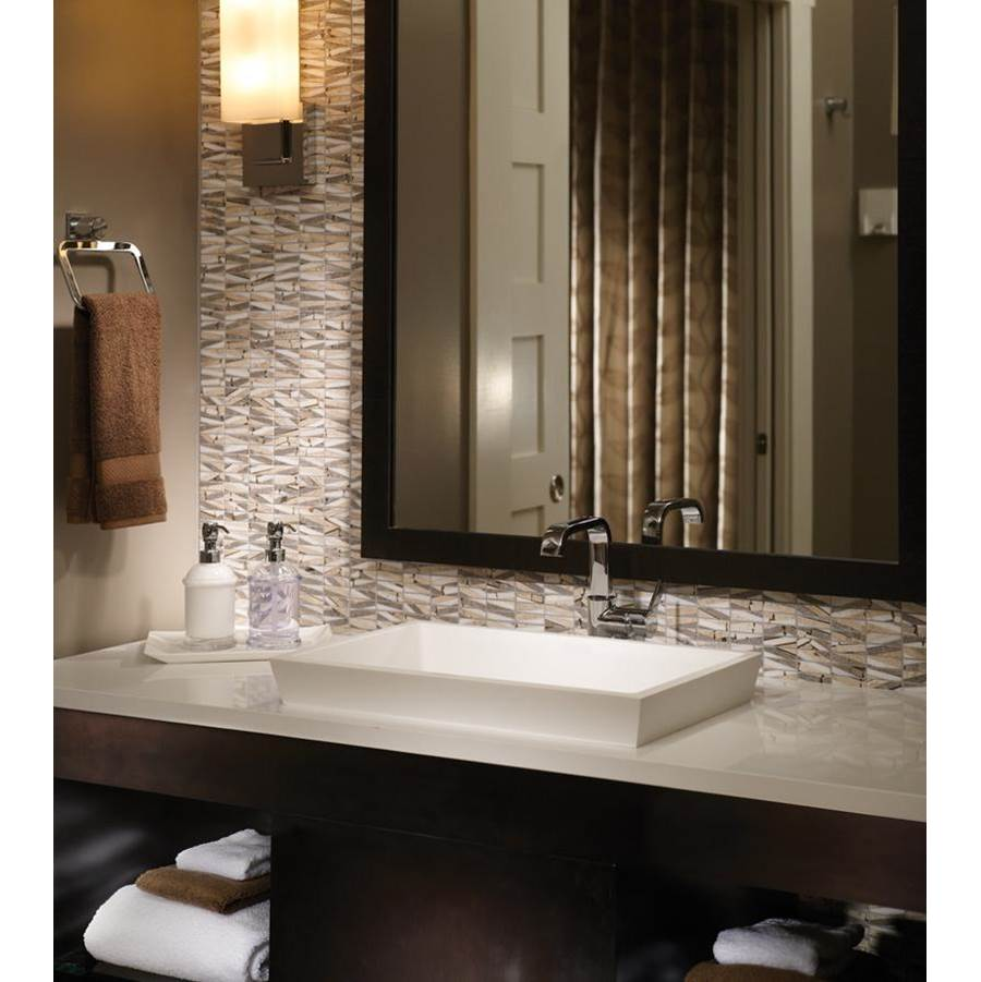 MTI Baths 22X14 GLOSS WHITE ESS SINK-PETRA SEMI-RECESSED