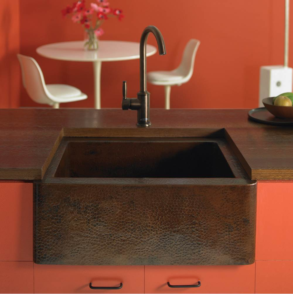 Native Trails Farmhouse 25 Kitchen SInk in Antique Copper