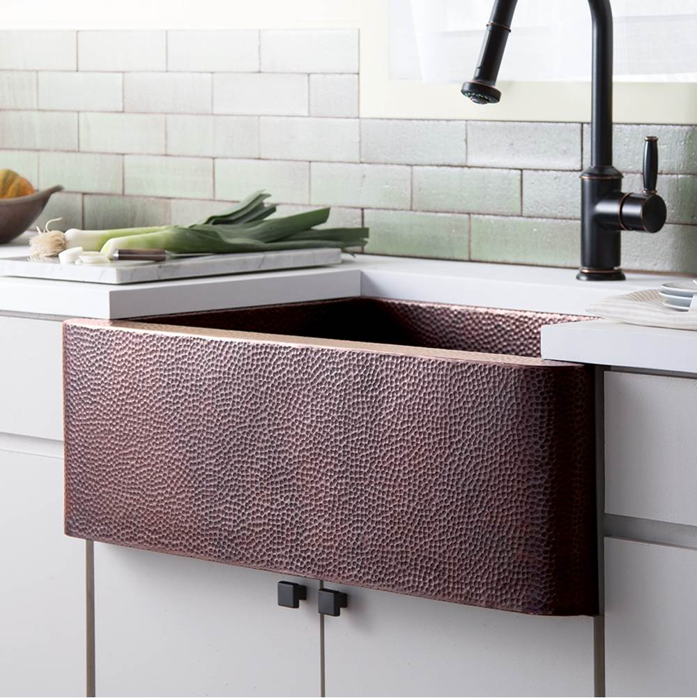 Native Trails Farmhouse 33 Kitchen SInk in Antique Copper