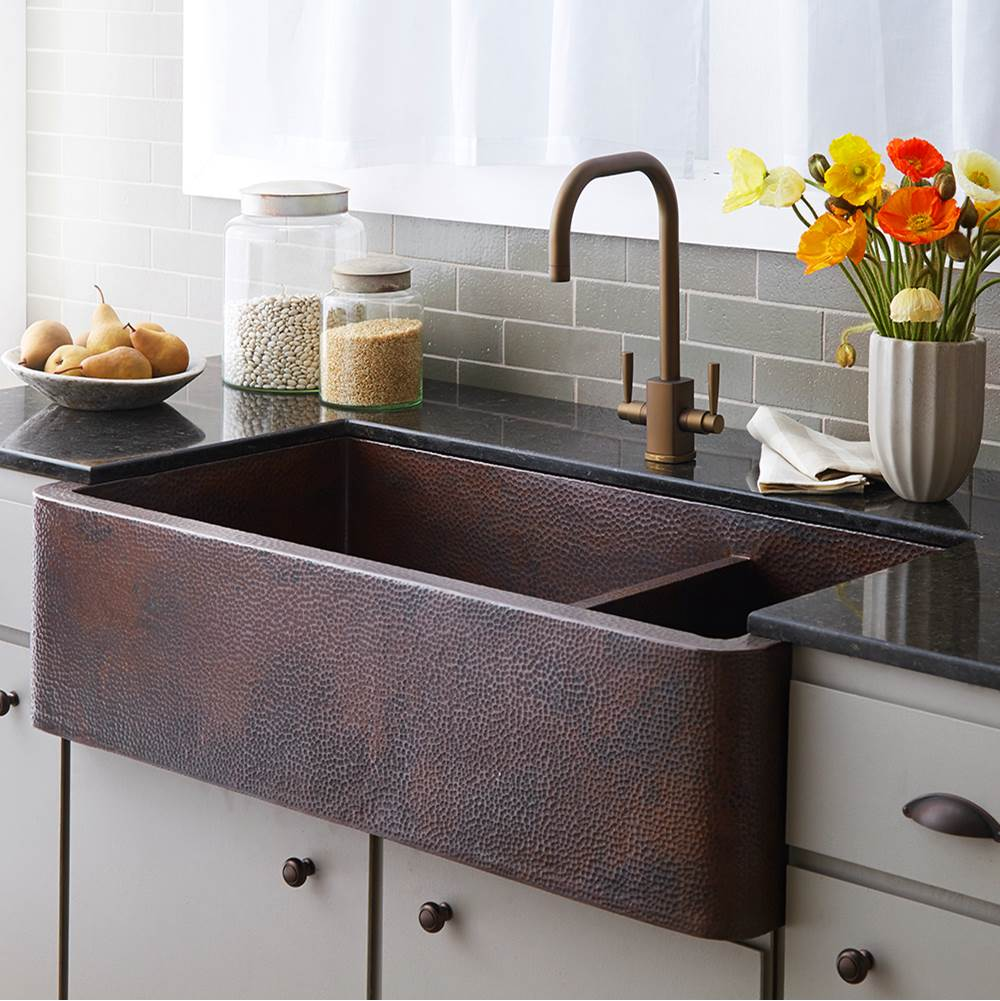 Native Trails Farmhouse Duet Pro Kitchen SInk in Antique Copper