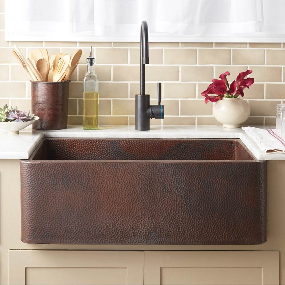 Native Trails Farmhouse 30 Kitchen SInk in Antique Copper