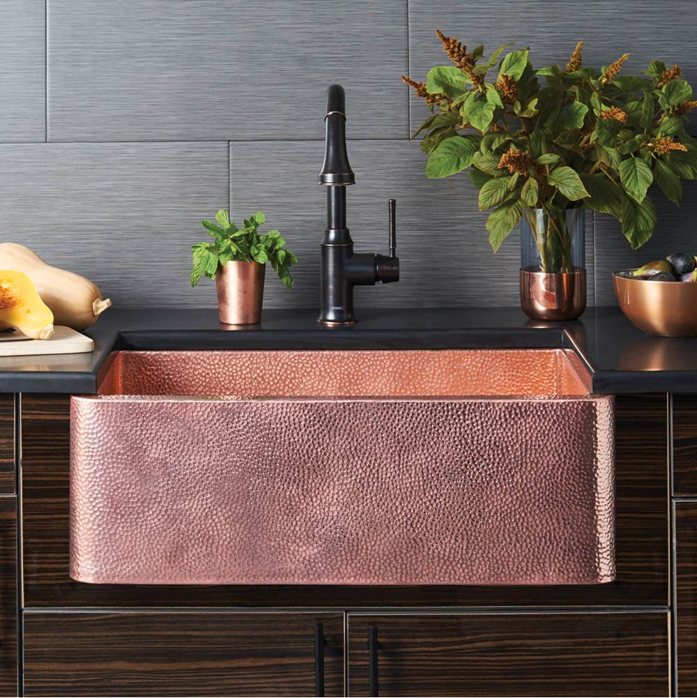 Native Trails Farmhouse 30 Kitchen SInk in Polished Copper