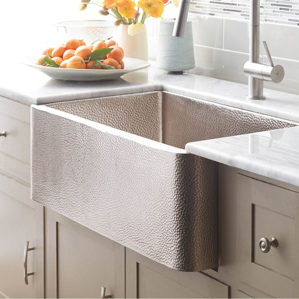 Native Trails Farmhouse 33 Kitchen SInk in Brushed Nickel