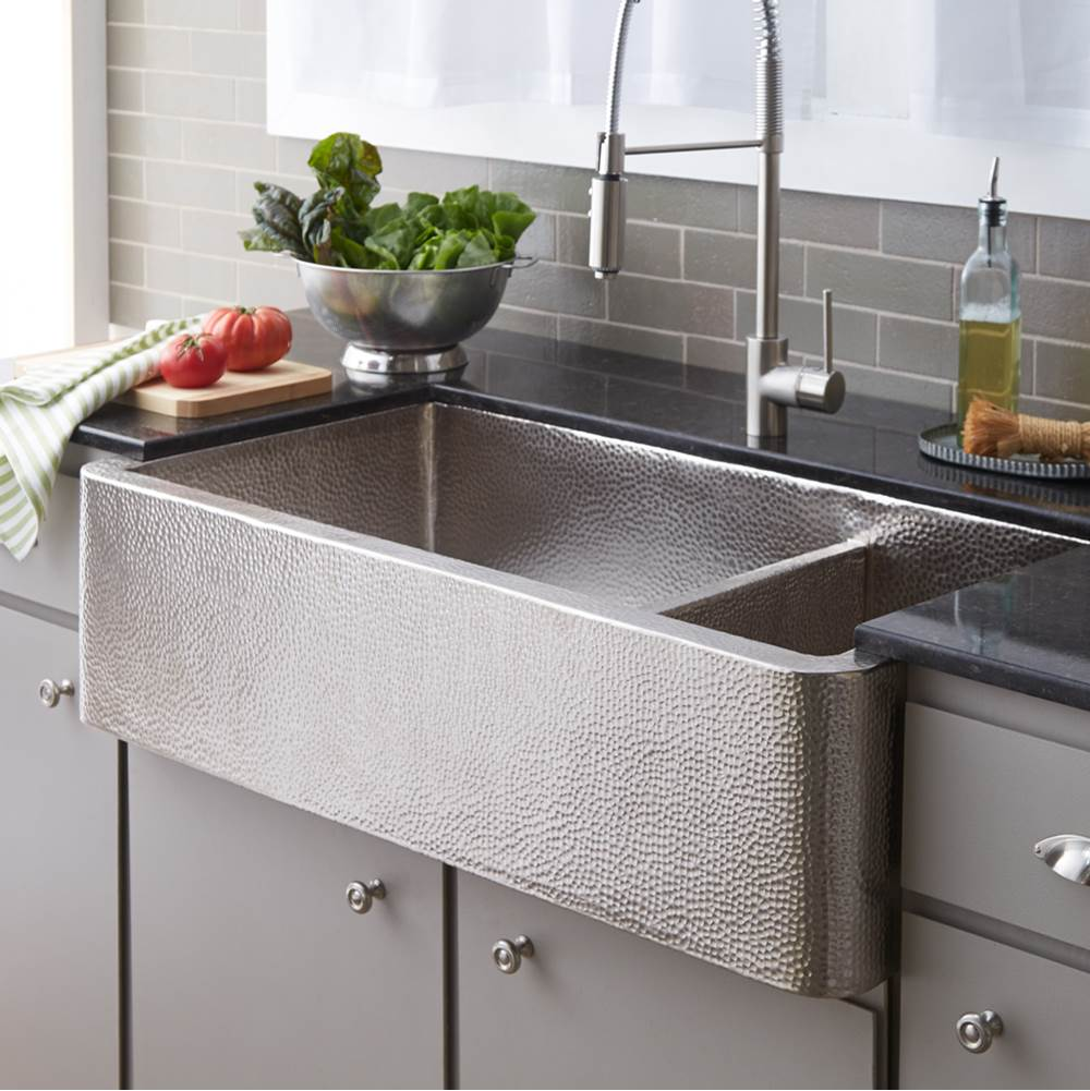 Native Trails Farmhouse Duet Pro Kitchen SInk in Brushed Nickel