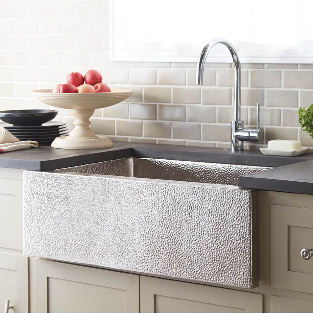 Native Trails Pinnacle Kitchen SInk in Brushed Nickel