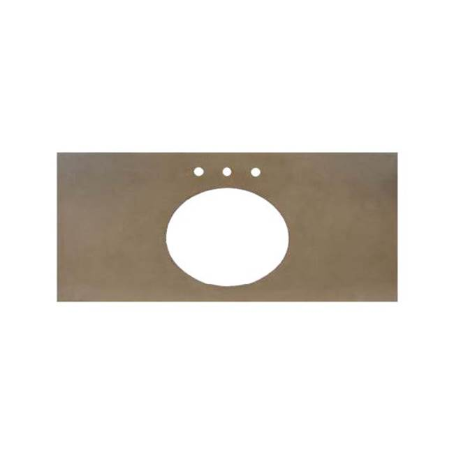 Native Trails 48'' Native Stone Vanity Top in Pearl- Oval with 8'' Widespread Cutout