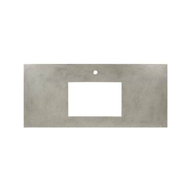 Native Trails 30'' Native Stone Vanity Top in Ash- Rectangle with Single Hole Cutout