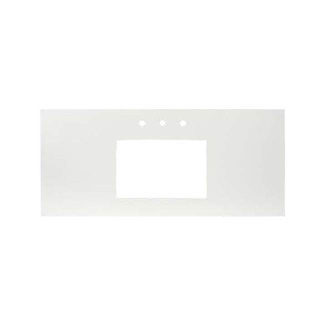Native Trails 30'' Native Stone Vanity Top in Earth- Rectangle with 8'' Widespread Cutout