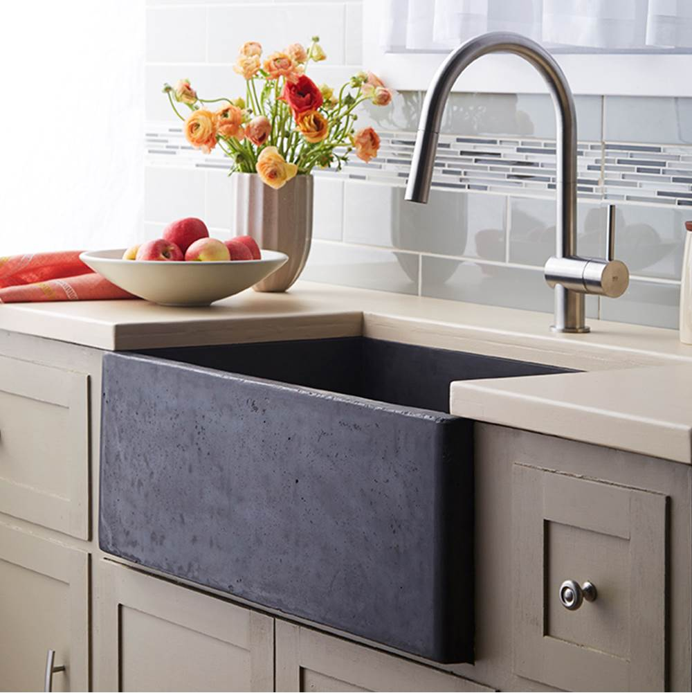 Native Trails Farmhouse 3018 Kitchen Sink in Slate