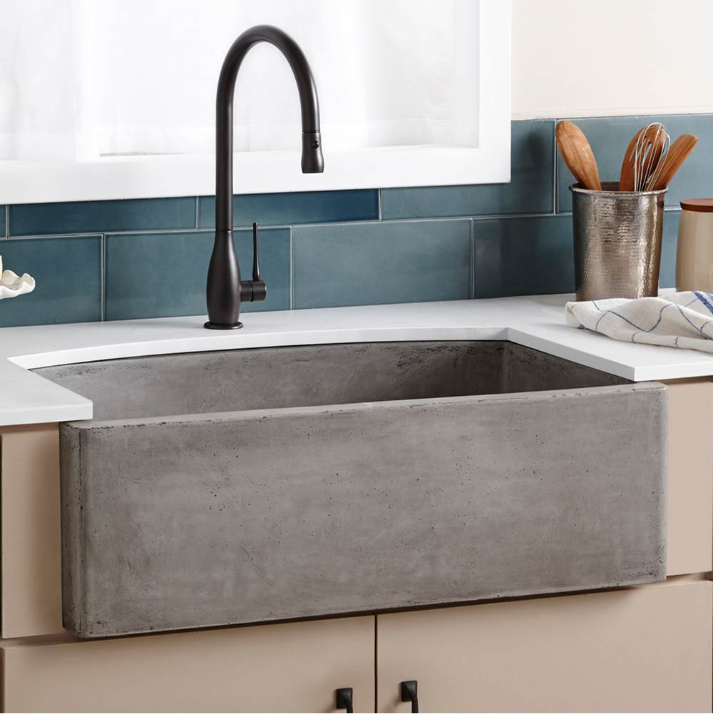 Native Trails Farmhouse Quartet Kitchen Sink in Ash