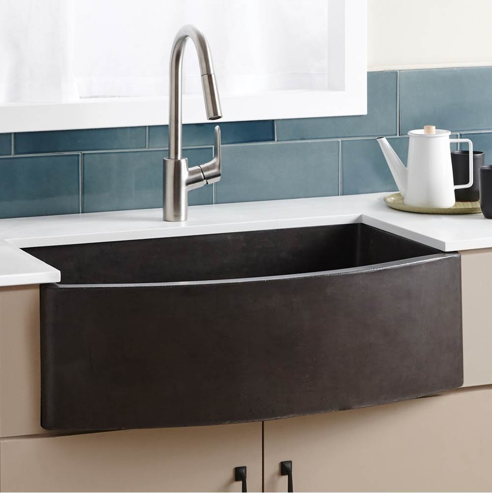 Native Trails Farmhouse Quartet Kitchen Sink in Slate