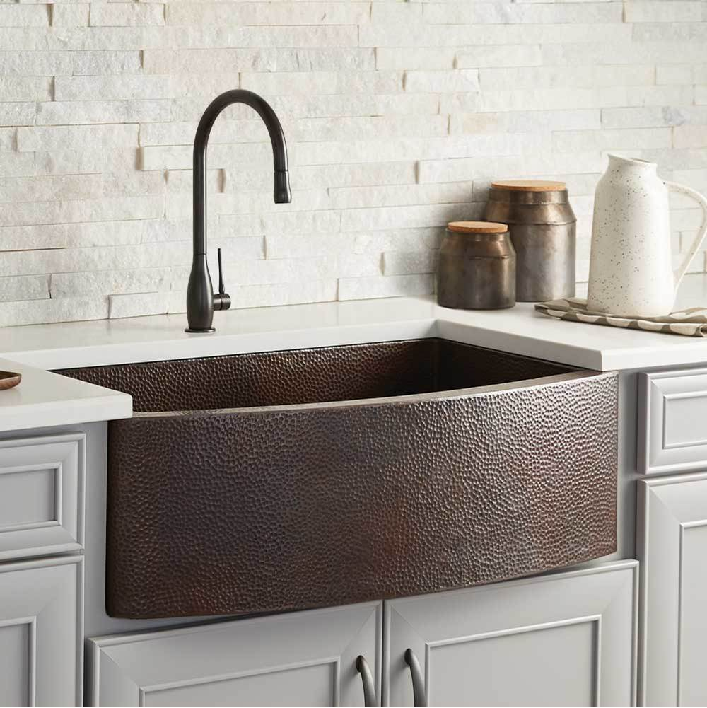 Native Trails Rhapsody Farmhouse Kitchen Sink in Antique Copper