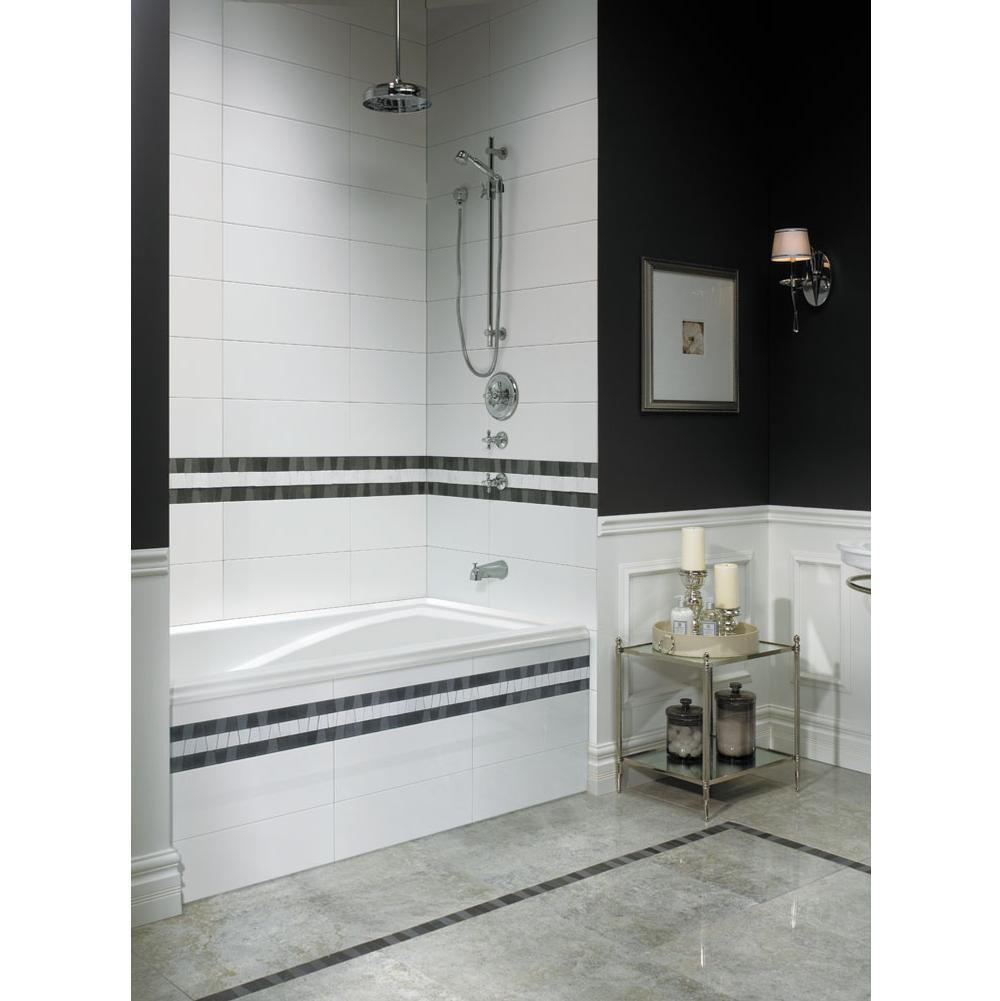 Neptune DELIGHT bathtub 36x72 with Tiling Flange, Right drain, Mass-Air, Bone