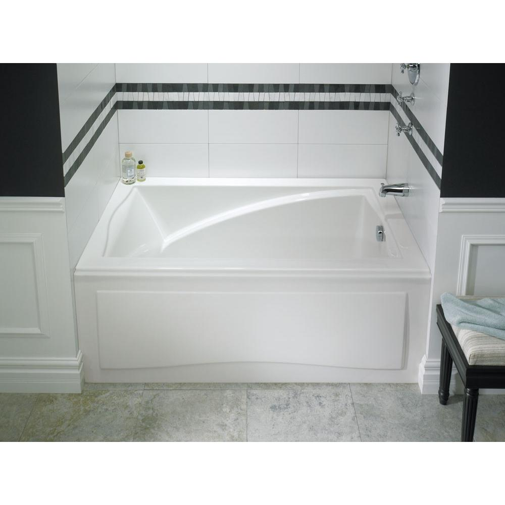 Neptune DELIGHT bathtub 36x66 with Tiling Flange, Left drain, Black with Option(s)