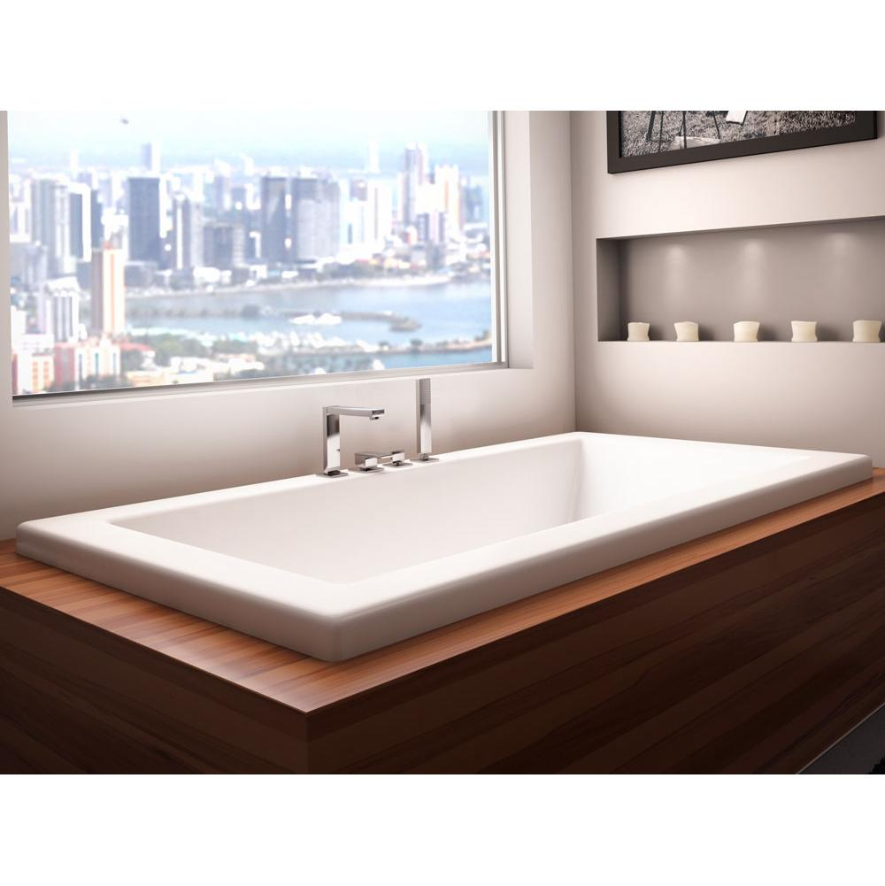 Neptune ZEN bathtub 36x66 with armrests and 1'' top lip, Whirlpool, White