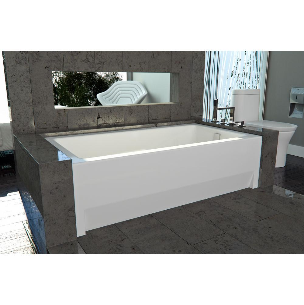 Neptune ZORA bathtub 32x60 with Tiling Flange and Skirt, Right drain, Whirlpool/Mass-Air/Activ-Air, Black